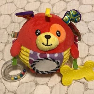 Happy Monkey NWT sensory rattle puppy toy ball
